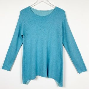 J. Jill Reversible Teal Blue Sweater Extra…